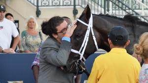 Trainer Saffie Joseph Jr., pictured patting Chance It, plans to run the colt in the Fountain of Youth Stakes on Feb. 29.