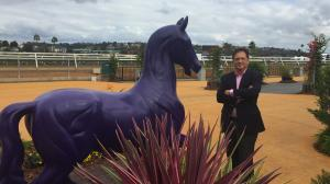 Gluckson at Del Mar, host of the 2017 and 2021 Breeders' Cup World Championships.