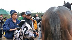 The Winner's Circle Lady at Santa Anita Park