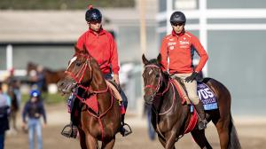 Japan-based Matera Sky (left) is among the international invaders to keep an eye on in the Saturday Breeders' Cup races.