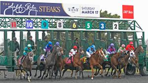 Horses break from the gate on Jeff Ruby Steaks day 2018. This year's race is on Saturday.