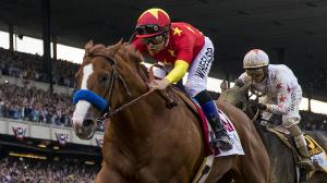 Triple Crown winner Justify remains the No. 1 ranked Thoroughbred in the country.
