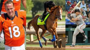 Justify's racing career is on hold, but he could make a stunning comeback like other great athletes Peyton Manning and Buster Posey.