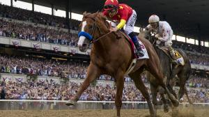 Justify wins the 150th Belmont Stakes to become the 13th Triple Crown winner in history.