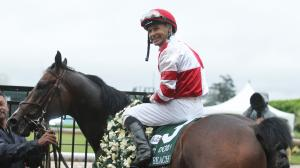 Jockey Mike Smith must choose between two Kentucky Derby horses in Omaha Beach (pictured) and Roadster.