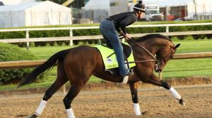 Omaha Beach's Exercise Rider Cambra Relishing the Derby Experience