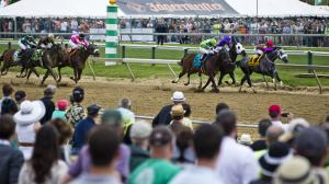 Racing at Pimlico on Preakness day, which includes the Sir Barton Stakes.