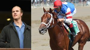 Stakes-winning racehorse Syndergaard was named for New York Mets player Noah Syndergaard, who visited the track to watch him race.