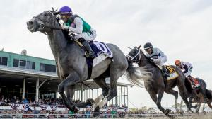Tacitus jumped into the Kentucky Derby picture with a fast-closing victory in the Tampa Bay Derby on Saturday.
