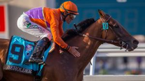 Future Hall of Famer Beholder, with Gary Stevens aboard, romped by 8 ¼ lengths in the 2015 Pacific Classic.