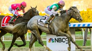 Tacitus Outlasts Tax in Wood Memorial