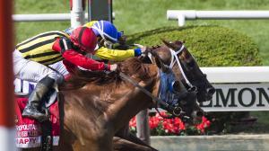 Bee Jersey Battles Gamely to Win Met Mile Thriller