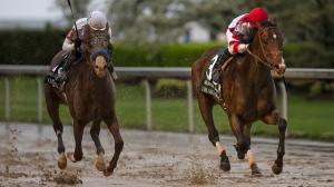 Omaha Beach Fends Off Improbable for Game Arkansas Derby Win