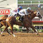 California Chrome Edges Determined Dortmund in Del Mar Thriller