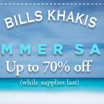 Bills Khakis Summer Sale is Here!