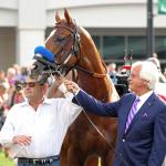 Justify Parades Before Thousands at Churchill Downs